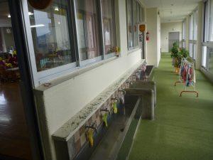 愛育園廊下改修前